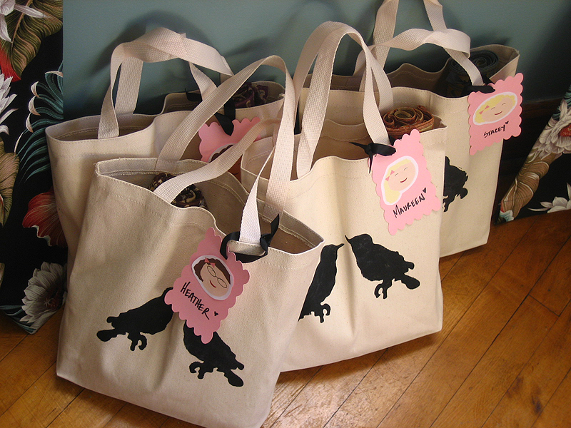 stenciled-gift-bag-tote-bag-birds-bridesmaid-gift
