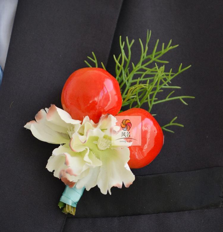 Top-Quality-NEW-5Pcs-Lot-Best-Man-Groom-Boutonniere-Silk-Flower-font-b-Red-b-font