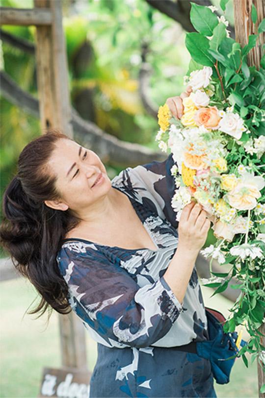 Aloha from Hawaii 確かなセンスと技術でウェディングセレモニーにフラワーの彩を