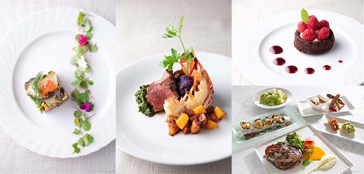 五感で料理を味わうことができる一層のおいしさをご堪能ください。